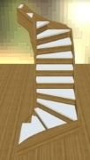 Softwood double turn staircase